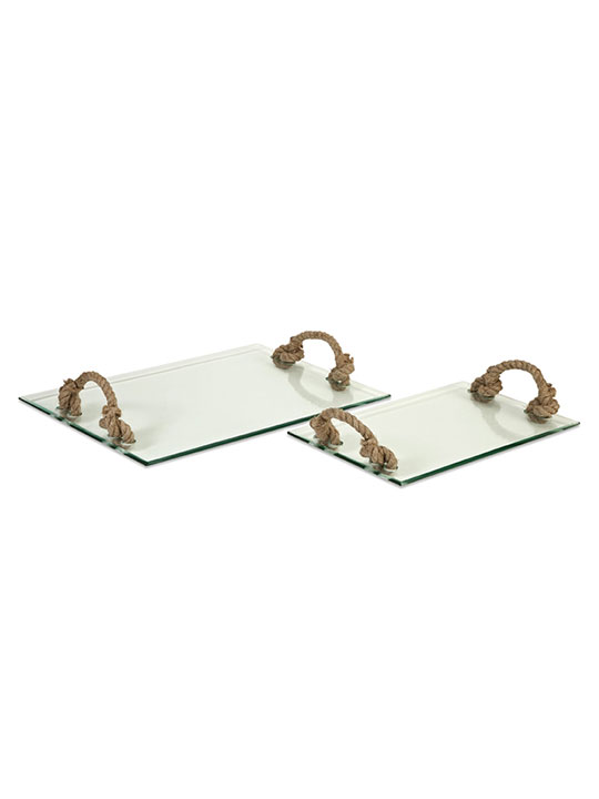 Glass Rope Tray Set