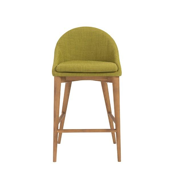 Green Fabric Westside Barstool