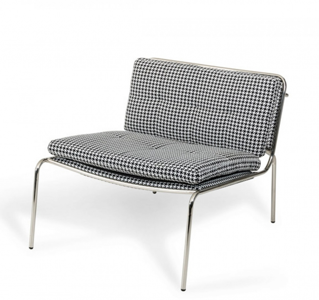 Houndstooth Mod Accent Chair 2