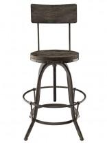 Industrial Wood Metal Barstool 156x207