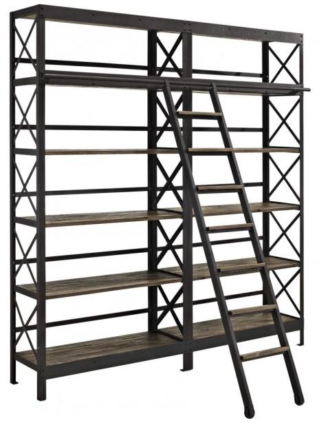 Industrial Wood Shelving Unit 1 461x614