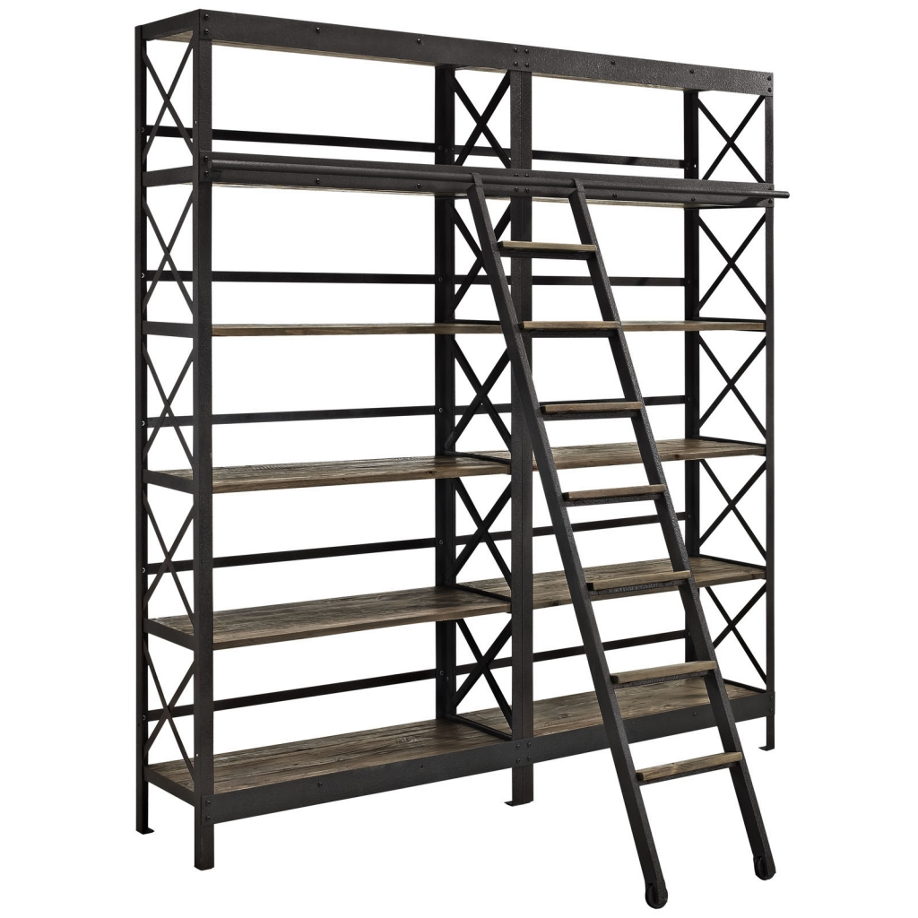 Industrial Wood Shelving Unit 1
