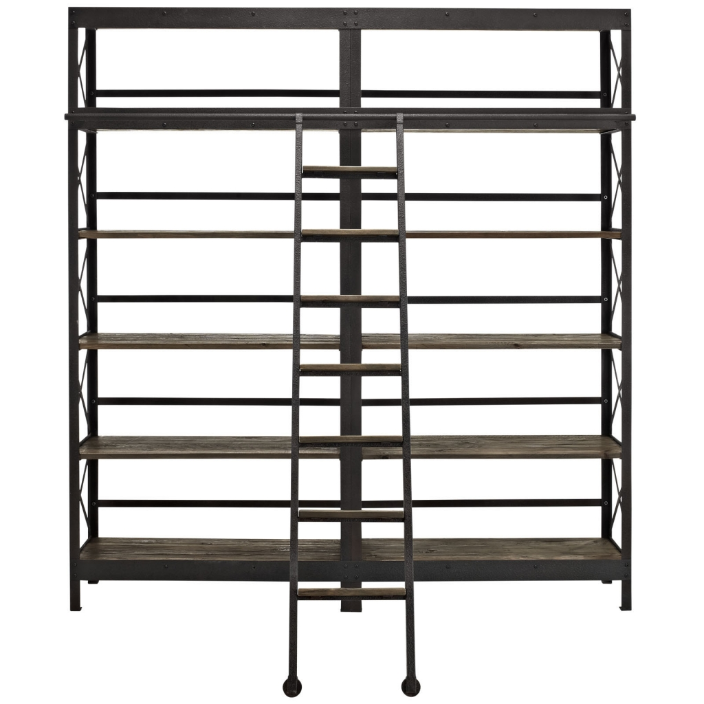 Industrial Wood Shelving Unit 2