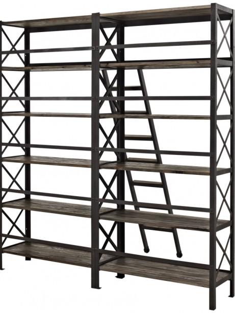 Industrial Wood Shelving Unit 3 461x614