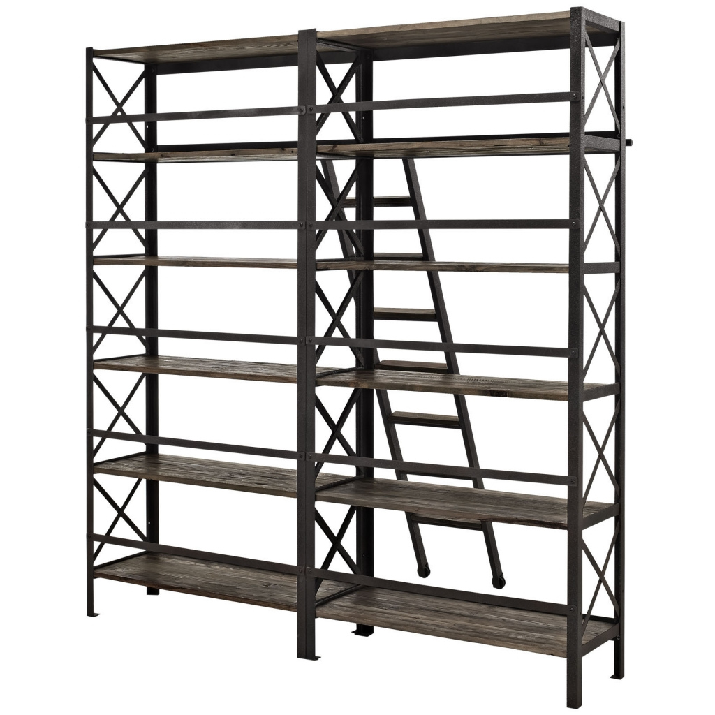 Industrial Wood Shelving Unit 3