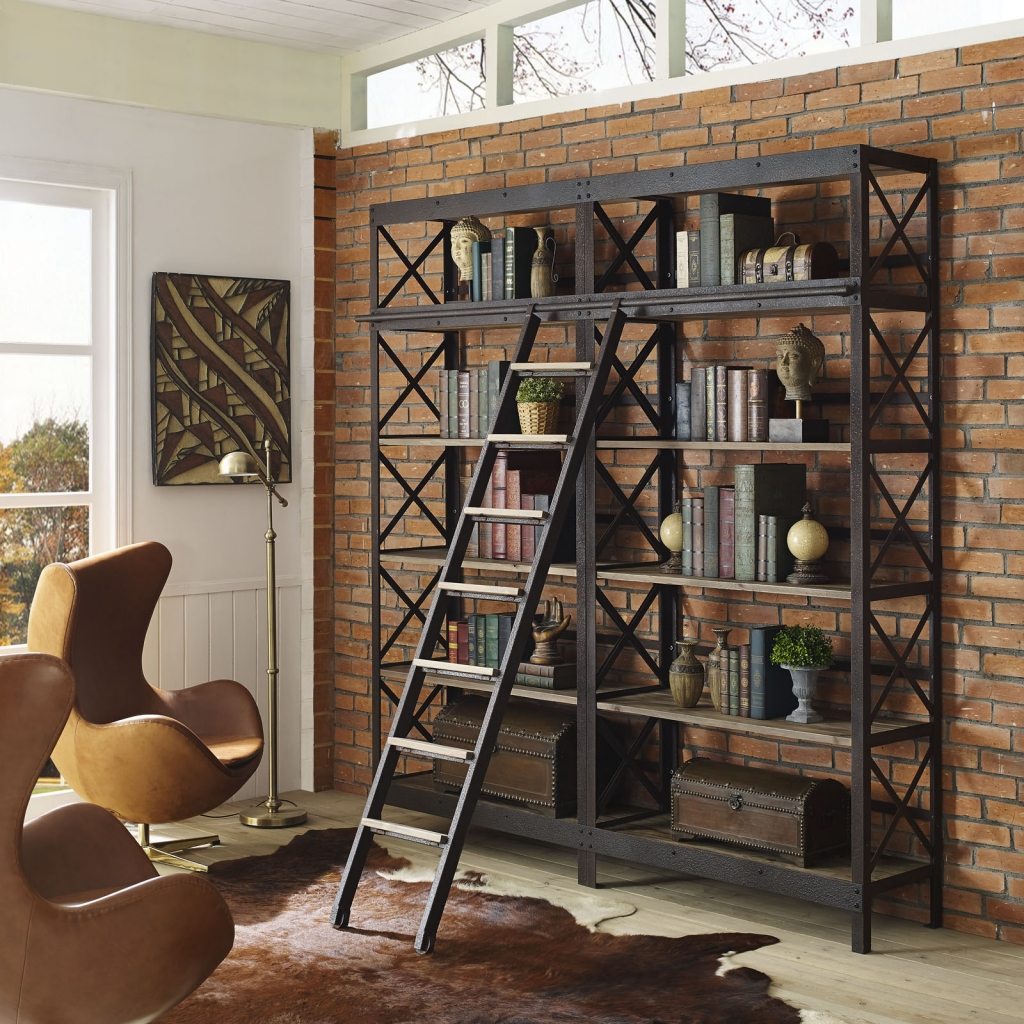 Industrial Wood Shelving Unit 4