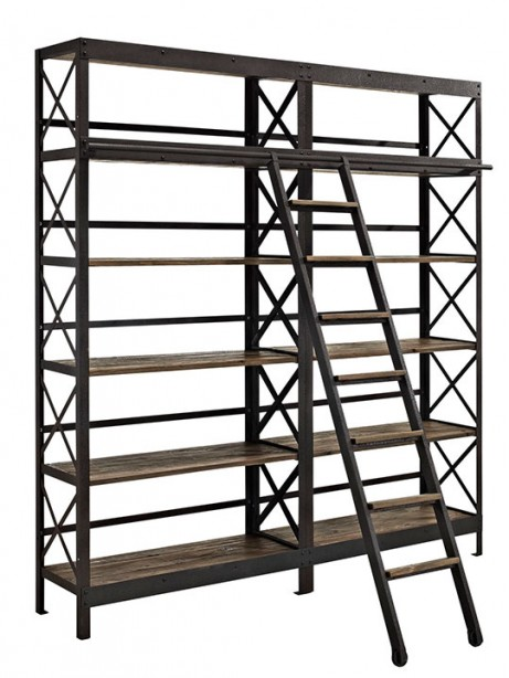 Industrial Wood Shelving Unit 461x614