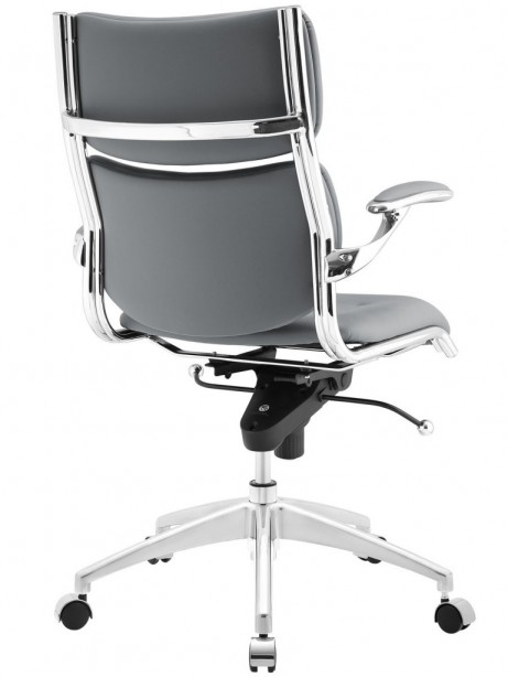 Instant Director Office Chair Gray Leather 461x614