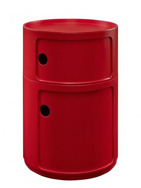 Red Circular 2 Storage Table 1 461x614