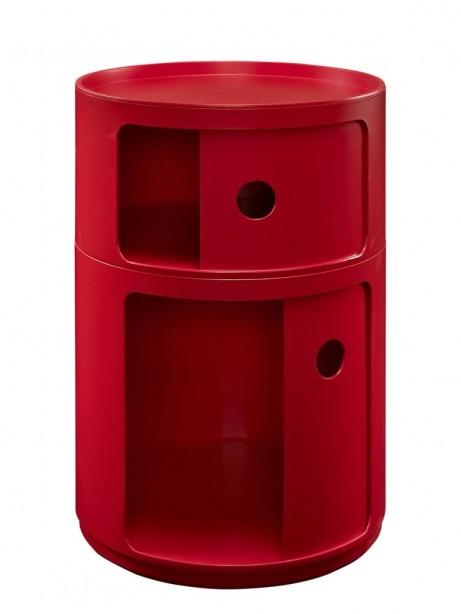 Red Circular 2 Storage Table 2 461x614