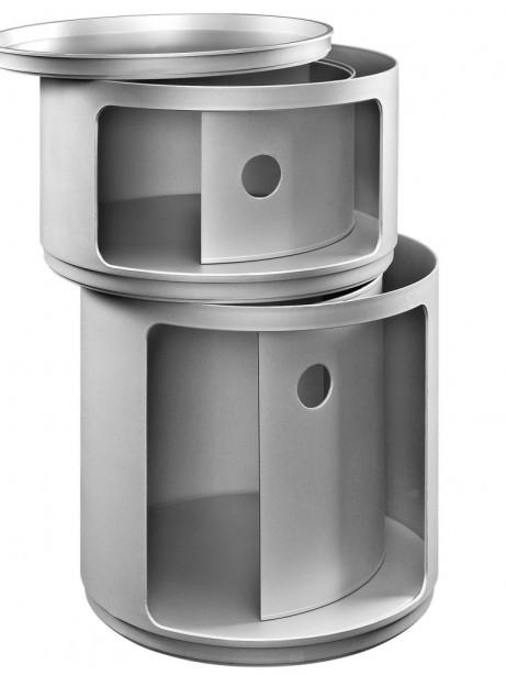 Silver Circular 2 Storage Table 2 461x614