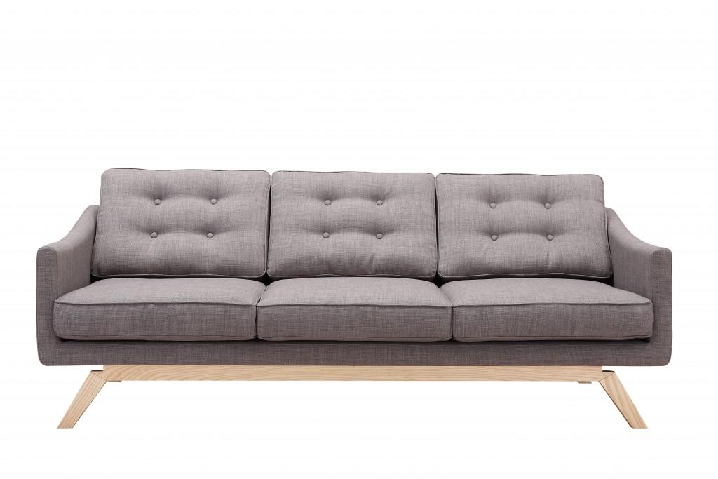 Slate Mid Century Sofa