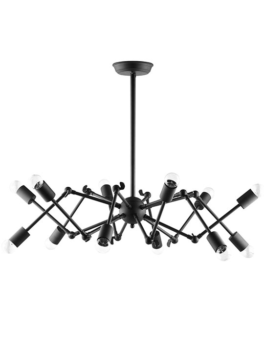 Spider Black Chandelier 1