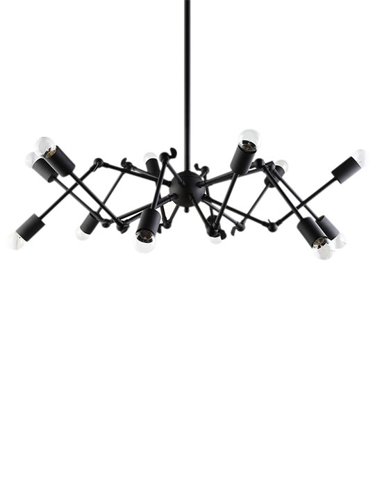 Spider Black Chandelier 2