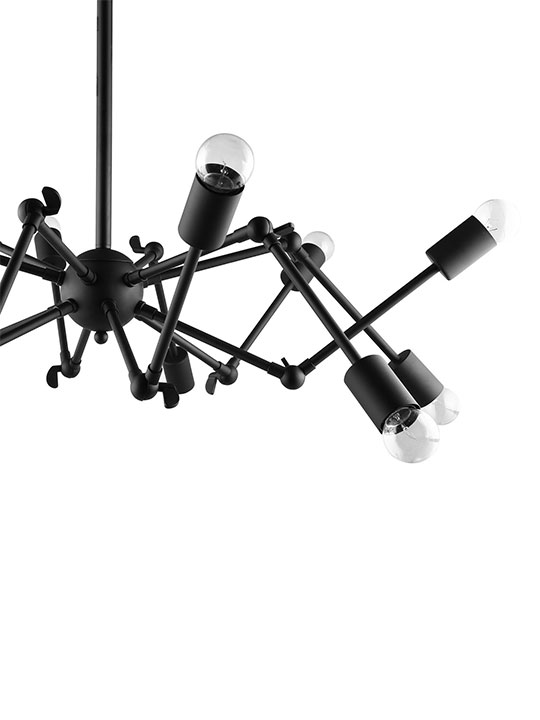 Spider Black Chandelier 3
