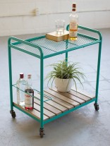 Turquoise Rolling Bar Cart 156x207
