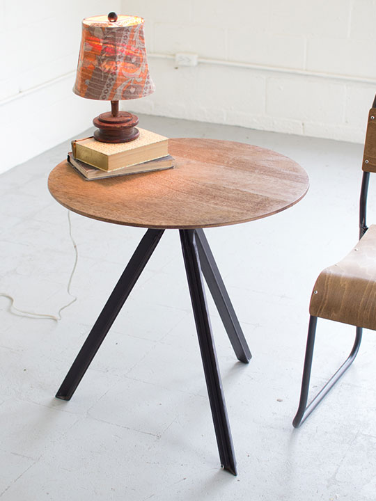 Verbose Wood Side Table