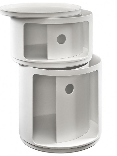 White Circular 2 Storage Table 1 461x614