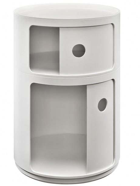 White Circular 2 Storage Table 2 461x614