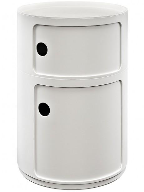 White Circular 2 Storage Table 3 461x614