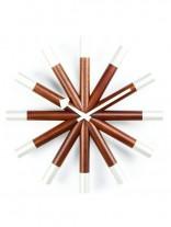 White Wood Mid Century Clock 156x207