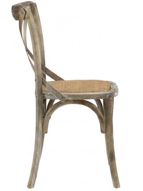 X Distressed Gray Wood Chair 2 461x614