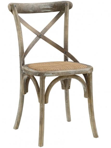 X Distressed Gray Wood Chair 3 461x614