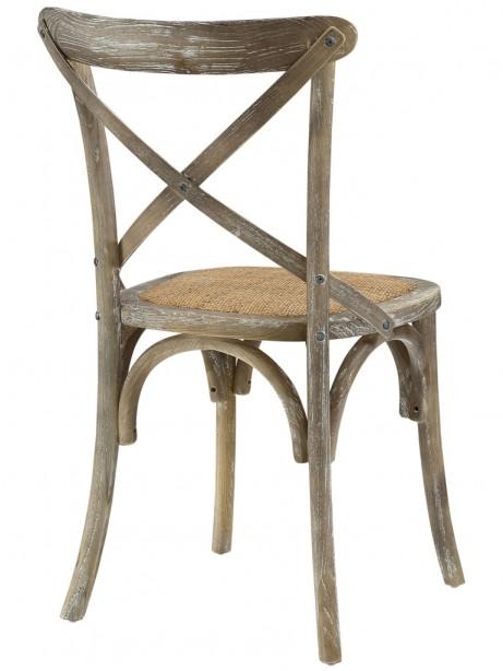 X Distressed Gray Wood Chair 461x614