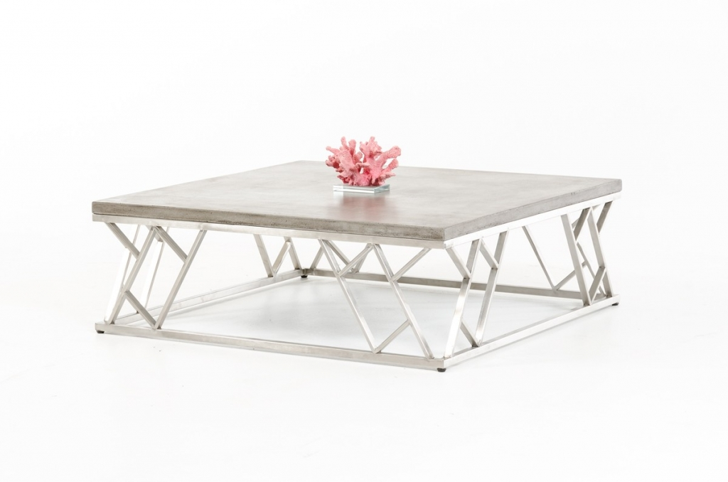 Concrete Chrome Coffee Table 3