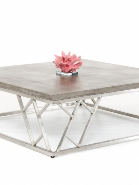 Concrete Chrome Coffee Table 461x614