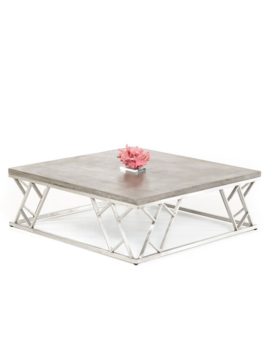 Concrete Chrome Coffee Table1