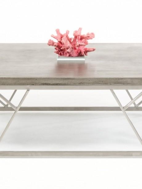 Concrete Chrome Large Coffee Table 461x614