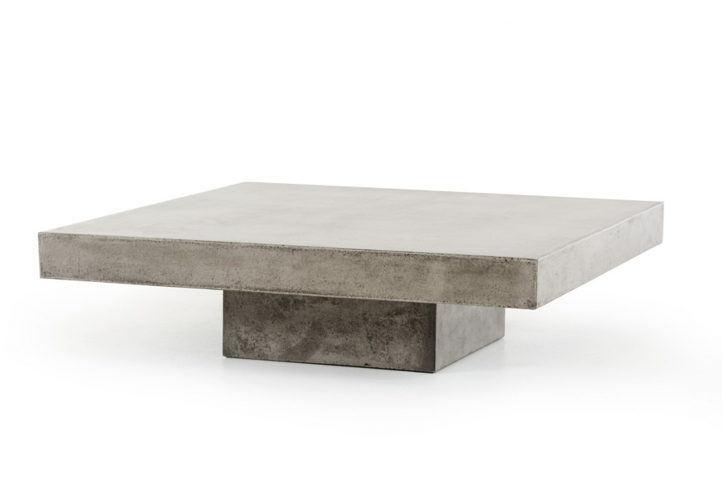 Concrete Coffee Table Modern Furniture Brickell Collection