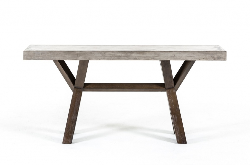 Concrete Wood Console Table 2