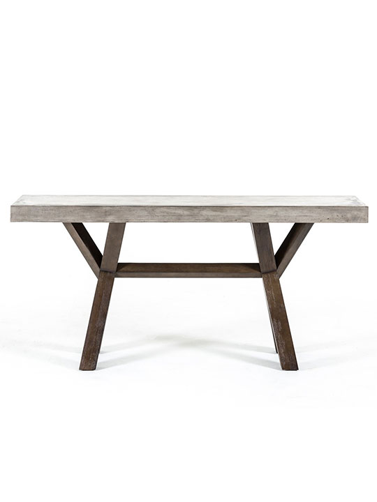 Concrete Wood Console Table1