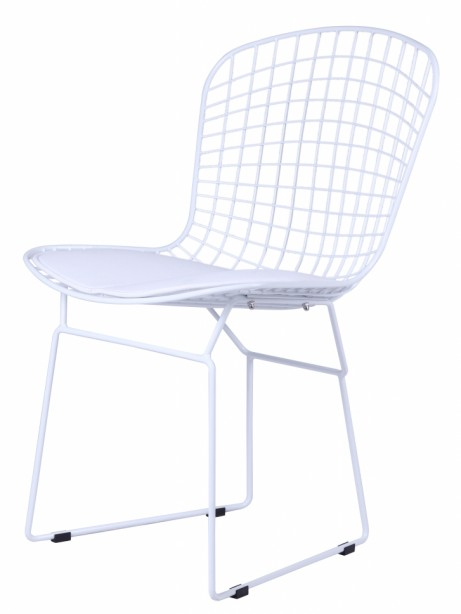 Dyson Modern White Wire Chair 2 461x614