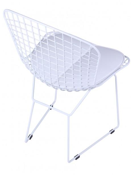 Dyson Modern White Wire Chair 6 461x614