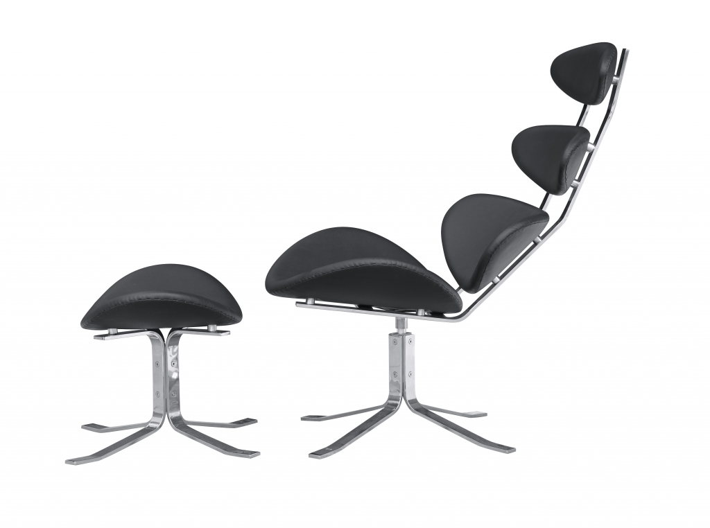 Futurisitc Black Lounge Chair 3