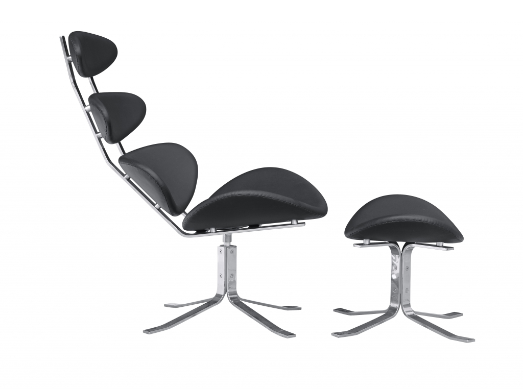 Futurisitc Lounge Chair Black 4