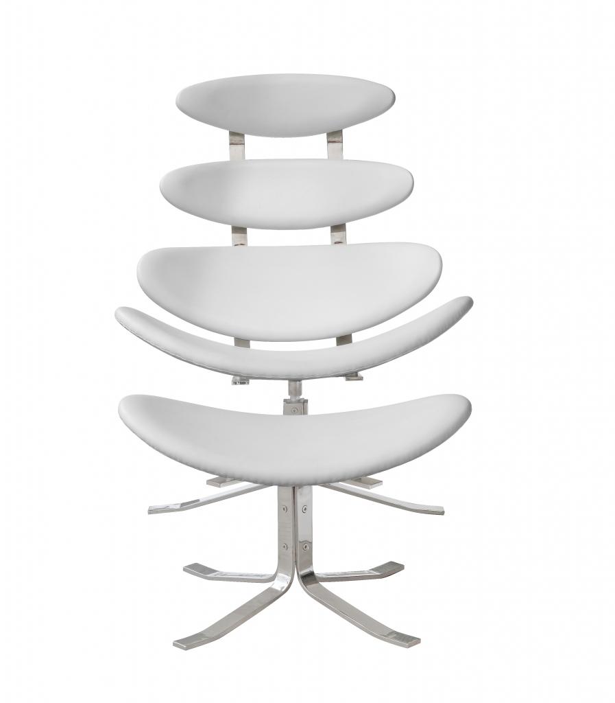 Futurisitc Lounge Chair Set White 3