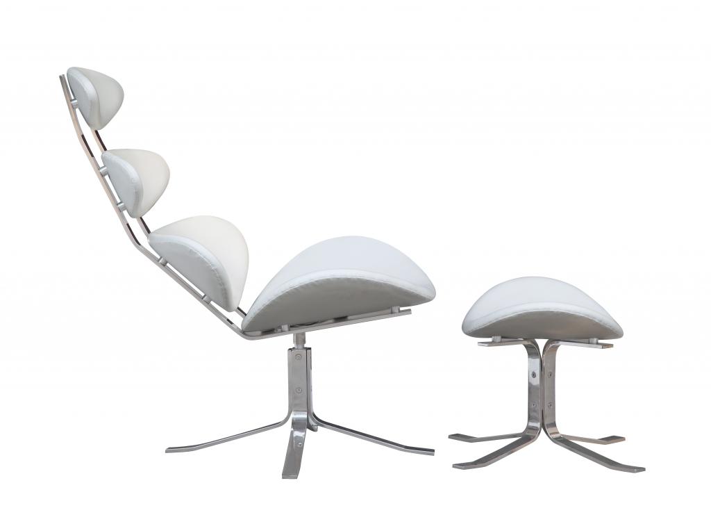 Futurisitc Lounge Chair White 2