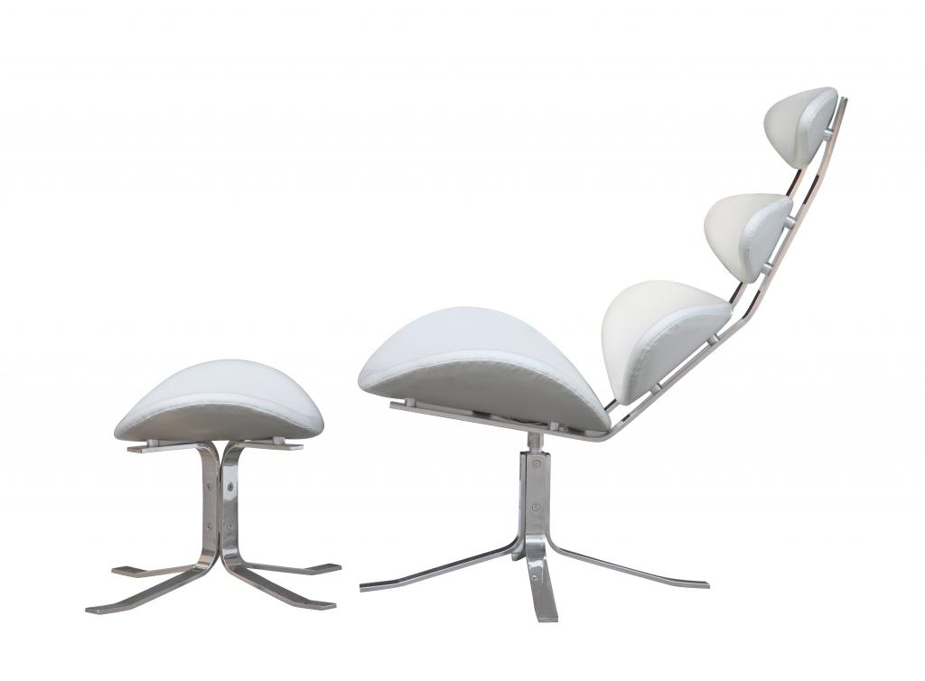 Futurisitc Lounge Chair White 6