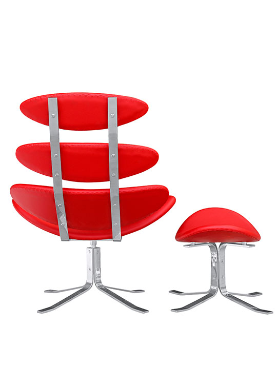 Futuristic Lounge Chair Red 1