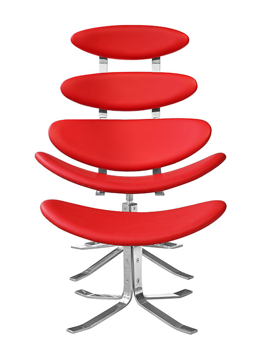 Futuristic Lounge Chair Red 4