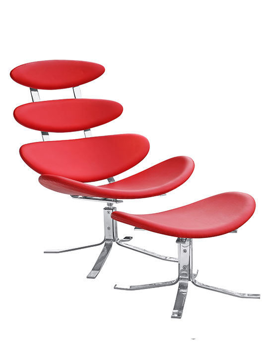 Futuristic Lounge Chair Red 6
