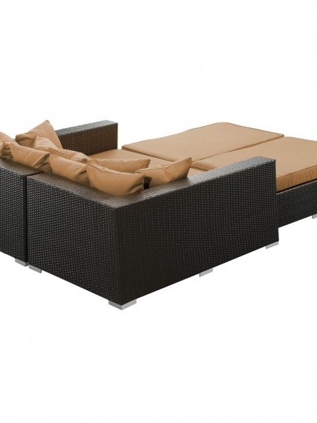 Houston Light Brown Outdoor Lounge Bed 461x614