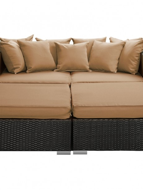 Houston Outdoor Lounge Bed Light Brown  461x614