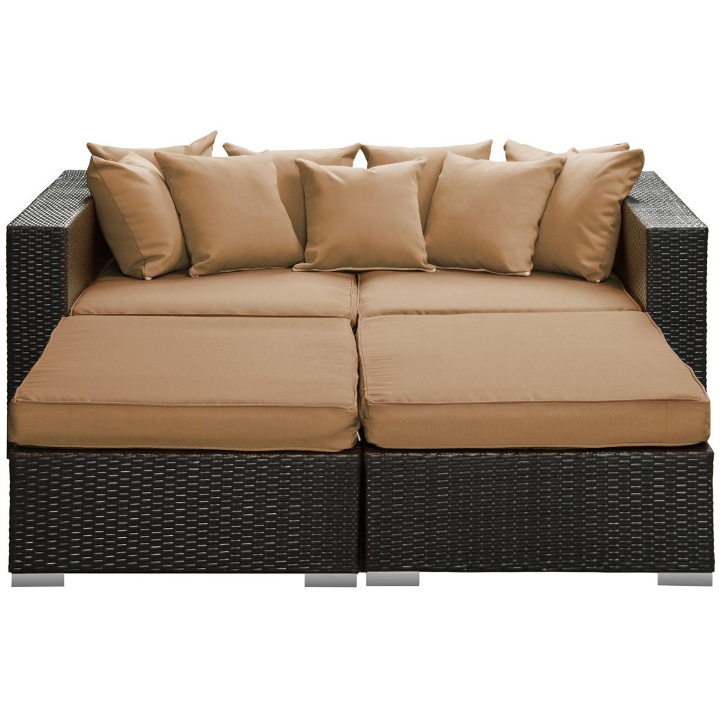 Houston Outdoor Lounge Bed Light Brown