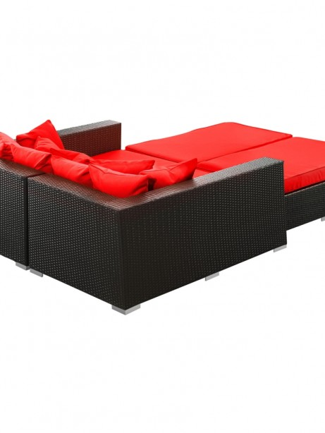 Houston Outdoor Lounge Bed Red 461x614