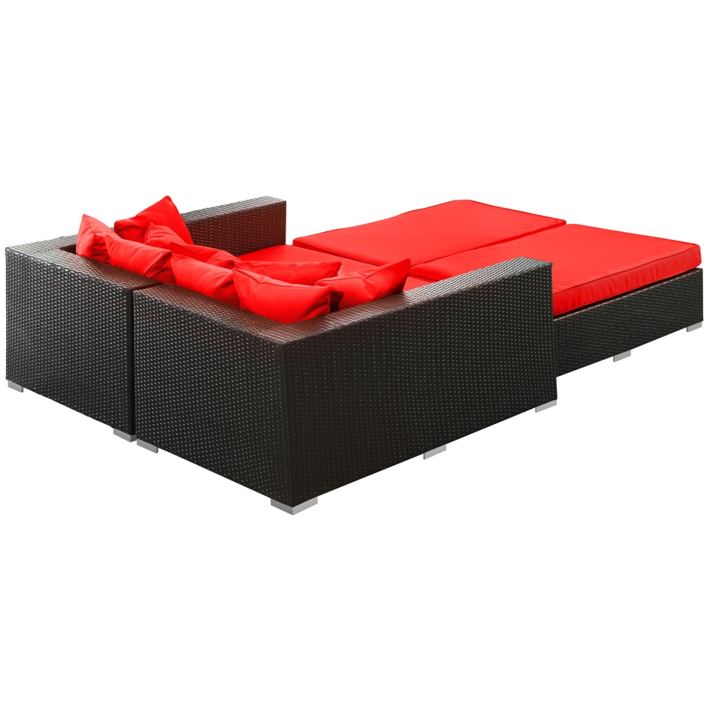 Houston Outdoor Lounge Bed Red